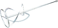 Мешалка для жидких растворов 590x120 мм, для миксера 58G784, резьба M14, GRAPHITE 58G784-97.
