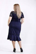 Синий женский костюм больших размеров 54-74 размер, фото 3