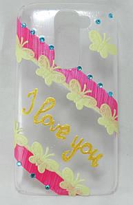 """Чехол накладка на LG G2 Mini D618 D610 D620 ручной работы """"I Love You"""""""