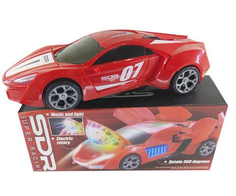Машинка-трансформер 3D музыкальная светящаяся Super Racing