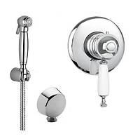 Гигиенический душ скрытого монтажа в ретро стиле с термостатом Bugnatese Oxford Италия