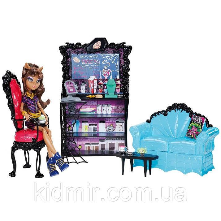 Кафе Монстр Хай і лялька Клодін Вульф Monster High Clawdeen Wolf Coffin Bean