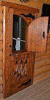 Дверь под старину в предбанник