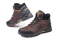 Кожаные  мужские зимние ботинки Andante Brown