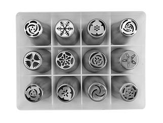 Набор кондитерских насадок Тюльпан в коробке из 12 шт