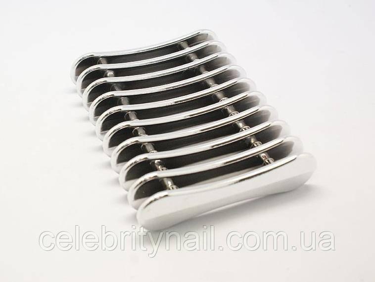 Підставка для кистей срібло