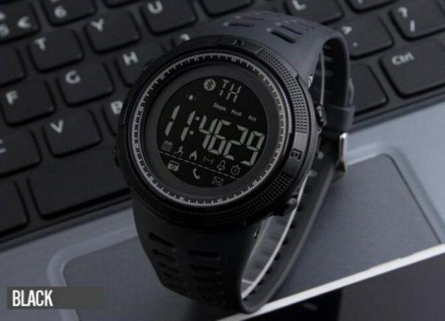 Skmei Clever 1250 Черные мужские спортивные смарт часы