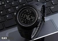Skmei Clever 1250 Черные мужские спортивные смарт часы, фото 1