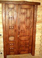 Дверь из массива сосны под старину