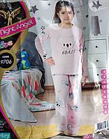 """Теплая пижама для девочки """"Night Angel"""" 4-7 лет,Турция"""