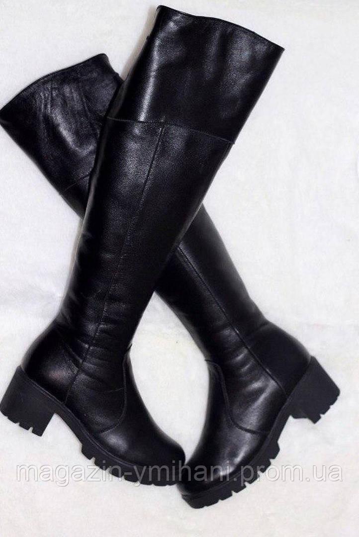 4f63ccc02 Демисезонные женские кожаные сапоги-ботфорды.: продажа, цена в ...