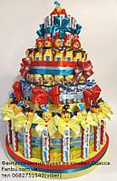 """Угощение в детский коллектив ко дню рождения ребенка из сладостей (на 34)""""Арлекино-2""""с киндер шоколадками"""