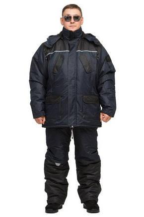 Зимний  утепленный костюм для охоты и рыбалки ТАСЛАН (-40)синий. Размер 56-58, фото 2