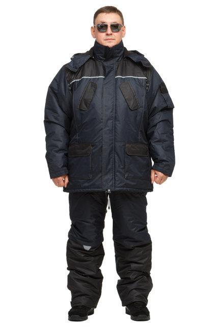 Зимний  утепленный костюм для охоты и рыбалки ТАСЛАН (-40)синий. Размер 56-58