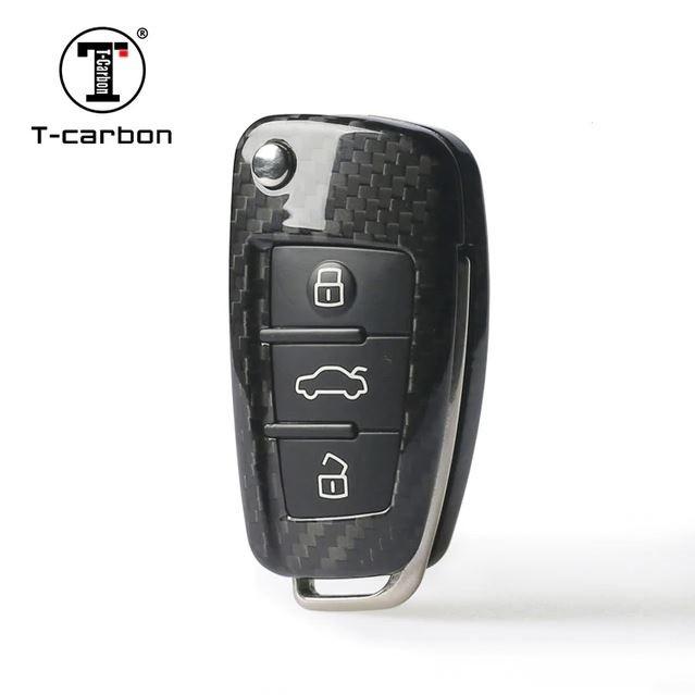Карбоновый чехол для ключа Audi A1,A3,A4,A5,A6,A6 ALLROAD QUATTRO,A7,A8,Q2,Q3,Q5,Q7,Q8,R8,RS Q3,RS3,RS4,RS5