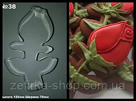 Вырубка для пряника и печенья Роза № 38