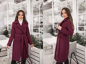 """Женское кашемировое пальто на запах """"Coalis"""" с карманами (7 цветов), фото 2"""