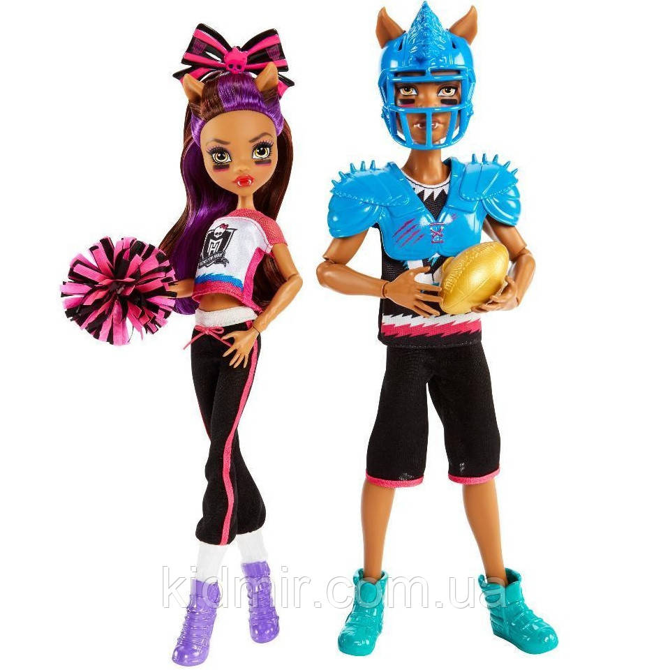 Набір ляльок Monster High Клод і Клодін Вульф (Clawdeen Wolf & Clawd Wolf) Winning Werewolves Монстр Хай