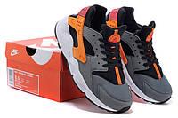 Женские кроссовки Nike Air Huarache grey-orange, фото 1