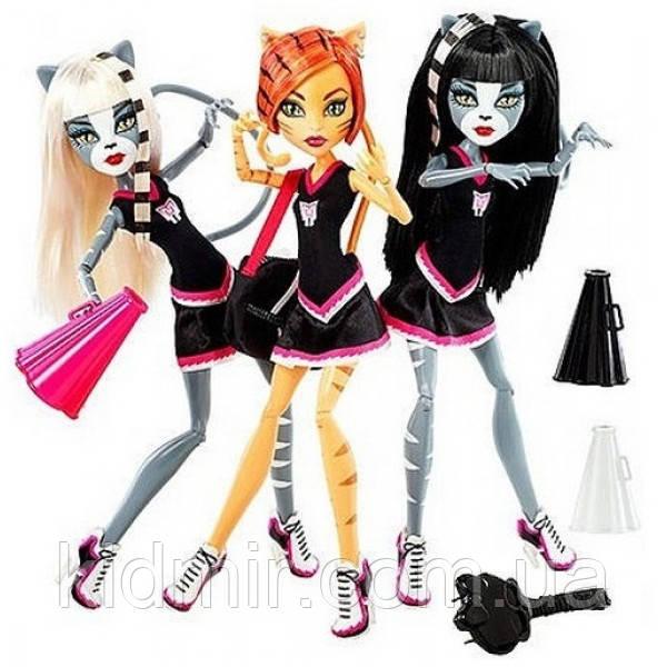 Набір ляльок Monster High Мурсефона, Мяулодия і Торалей (Toralei & sisters) Монстр Хай