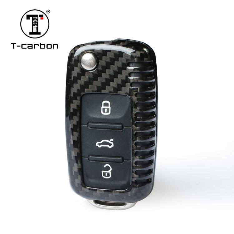 Карбоновый чехол для ключа Volkswagen Passat,Golf,Tiguan,Touareg,Polo, Jetta,Amarok,Beetle,Bora,Сaddy,Passat