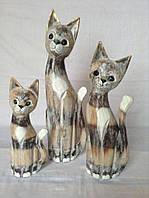 Семья котов с золотистыми ушками (50, 40 и 30 см)