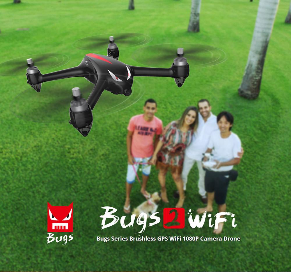 Квадрокоптер от MJX Bugs 2 B2W | WI-FI FPV Камера 5GHz | GPS | автовозврат