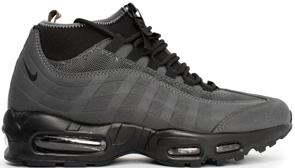 00835dab Мужские зимние кроссовки Nike Air Max 95 Sneakerboot 'Gray/Black' (Найк)  серые