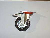 Колесо поворотное с крепёжной панелью и тормозом d=100