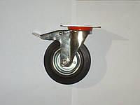 Колесо поворотное с крепёжной панелью и тормозом d=125