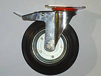 Колесо поворотное с крепёжной панелью и тормозом d=200
