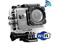 Экшнкамера Action Cam W9 с Wi-Fi. Full HD  водонепроницаемая, подводная камера глубина съемки - 30 метров,