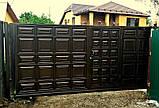 Відкатні ворота 3000х2000 заповнення фільонка, фото 5