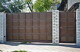 Відкатні ворота 3000х2000 заповнення фільонка, фото 8