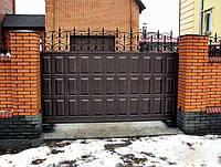 Откатные ворота 3500х2000 заполнение филенка, фото 1