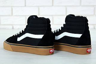 Мужские зимние кеды Vans Old Skool high CANVAS SK8-HI с мехом, vans old school, ванс олд скул, фото 2