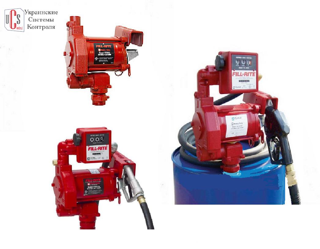 Насос Tuthill Fill-Rite (США) для заправки бензина FR705VE, 220 В, 75 л/мин.