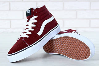 Женские зимние кеды Vans Old Skool high CANVAS SK8-HI с мехом, vans old school, ванс олд скул, фото 3