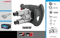 Миксер электрический 1600 Вт, скорость I: 0-450, II: 0-600 мин-1, GRAPHITE 58G788.