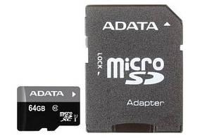 Карта памяти Adata 64Gb + SD-адаптер (Class 10), фото 3