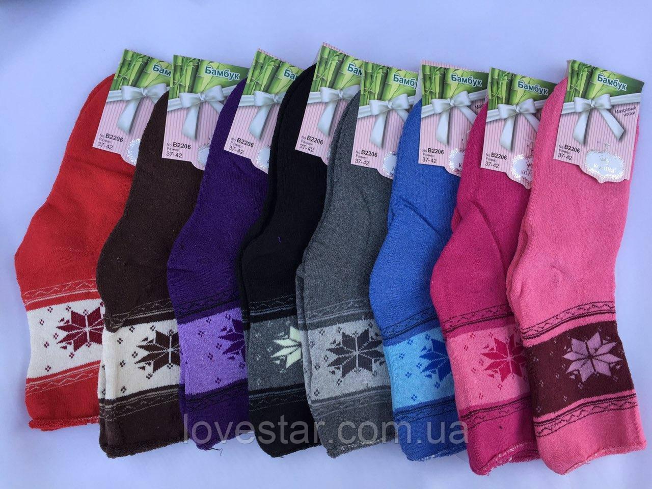 Женские махровые носки Корона бамбукР.р 37-42