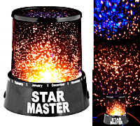 Музыкальный Ночник Проектор Звездного Неба Star Master на Батарейках