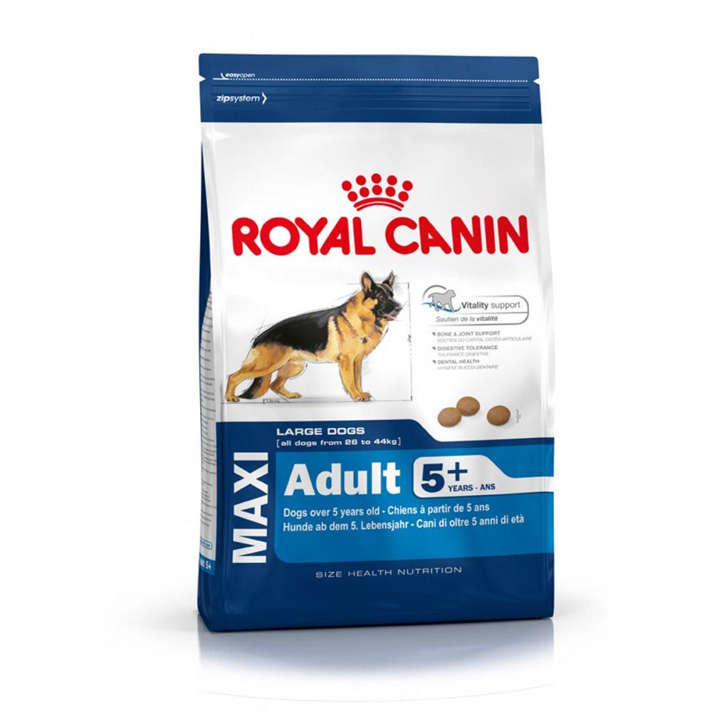 Royal Canin (Роял Канин) Maxi Adult 5+ Корм для крупных собак от 5 до 8 лет -           Зоомагазин - Зверушка в Киеве