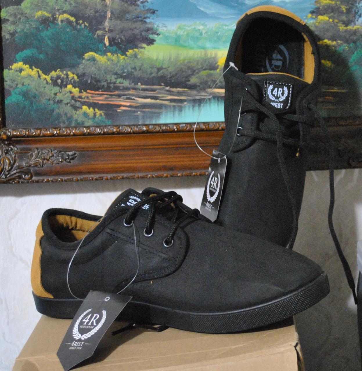 """Мокасины мужские """"4 R"""". Мужские спортивные туфли кроссовки слипоны, Германия - Украина. Фирменные мокасины."""