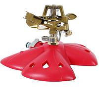Дождеватель пульсирующий с полной/частичной зоной полива на базе, круг/сектор полива до 12м Intertool GE-0074