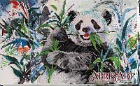 Набор для вышивки бисером на холсте Бамбуковый медведь