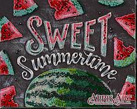 Набор для вышивки бисером на холсте Сладкое лето