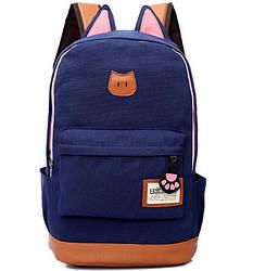Яркий рюкзак из холста с ушками cat