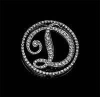 Женский кулон из белого золота с бриллиантами С20Л1№22