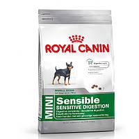 Royal Canin (Роял Канин) Mini Digestive Care Корм для маленьких собак с чувствительным пищеварением Основное питание, Для взрослых животных, Супер-премиум, Франция, 0.8 кг, Сухие корма